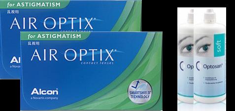 2x Air Optix Astigmatism 6er-Box  + 2x Optosan 380ml (Sparset)